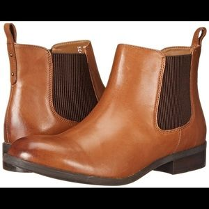 Clarks Pita Sedona Brown Leather Chelsea Boot